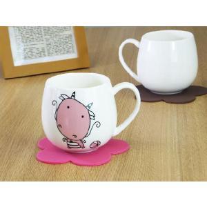 マグカップ 400ml 十二支 龍 辰 強化磁器 白磁 おしゃれ 割れにくい 大きい 丸い かわいい 北欧風|nishida-store