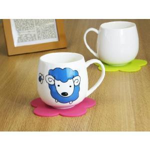 マグカップ 400ml 十二支 羊 未 強化磁器 白磁 おしゃれ 割れにくい 大きい 丸い かわいい 北欧風|nishida-store