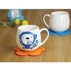 マグカップ 400ml 十二支 猿 申 強化磁器 白磁 おしゃれ 割れにくい 大きい 丸い かわいい 北欧風|nishida-store
