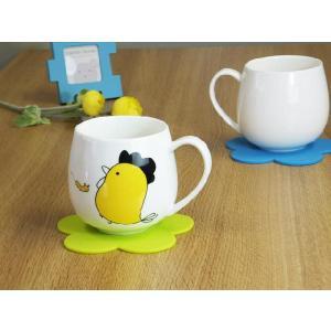 マグカップ 400ml 十二支 鳥 酉 強化磁器 白磁 おしゃれ 割れにくい 大きい 丸い かわいい 北欧風|nishida-store