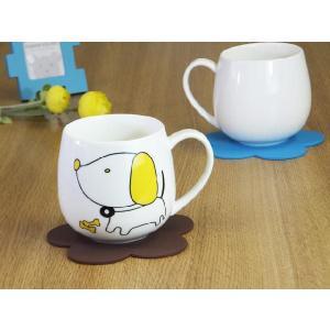 マグカップ 400ml 十二支 犬 戌 強化磁器 白磁 おしゃれ 割れにくい 大きい 丸い かわいい 北欧風 nishida-store