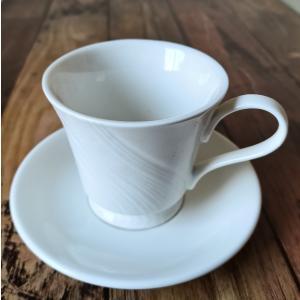 マグカップ 白磁 おしゃれ  250ml 紅茶用  レンジOK ティーカップ 白い シンプル 軽い カフェ|nishida-store