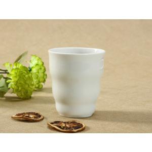 湯呑 260ml 強化磁器 白磁 おしゃれ シンプル ホワイト 軽い 湯呑み|nishida-store