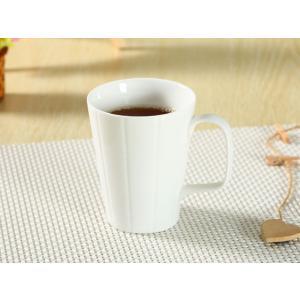 マグカップ 330ml 白磁 おしゃれ 大きい レンジOK シンプル ホワイト カフェ|nishida-store
