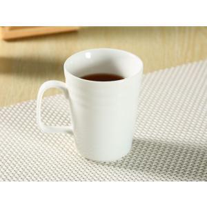 マグカップ 白磁 おしゃれ  330ml  大きい レンジOK 軽い 訳あり アウトレット 子ども シンプル|nishida-store