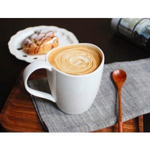 マグカップ 340ml ギフトボックス付き 白磁 おしゃれ 大きい レンジOK シンプル ホワイト カフェ|nishida-store