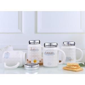 ねじ口鏡面ふた付きマグカップ(英文字) 蓋付き ふた付き 陶器製 可愛い お洒落 大容量 コーヒー 紅茶 ジュース牛乳 カフェオレ こぼれない|nishida-store