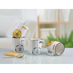 オシャレなマグカップ(サッカーボール 380ml) プレゼント カフェ食器 カラフル  カップ 陶器...