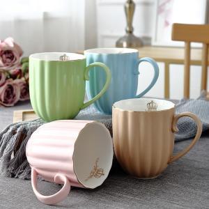 オシャレなマグカップ(カボチャ型) プレゼント カフェ食器 カラフル  カップ 陶器  ギフト  磁器 陶磁器|nishida-store