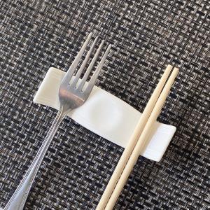 箸置き おしゃれ かわいい  10.2cm  カトラリーレスト 白磁 大きい 無地 シンプル カフェ|nishida-store