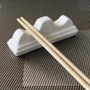 箸置き おしゃれ かわいい  10.8cm 山の形  カトラリーレスト スプーン置き 白磁 大きい 無地 シンプル カフェ|nishida-store