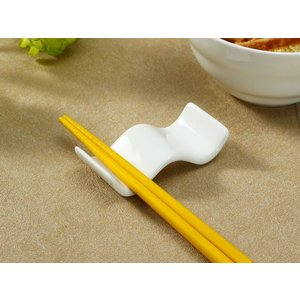 箸置き おしゃれ かわいい  7.8cm  カトラリーレスト スプーン置き 白磁 大きい 無地 シンプル カフェ|nishida-store