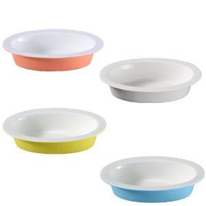 ペット用品  楕円型  食器 フード ボウル 強化磁器 軽い おしゃれ かわいい カラバリ アウトレット 訳あり|nishida-store