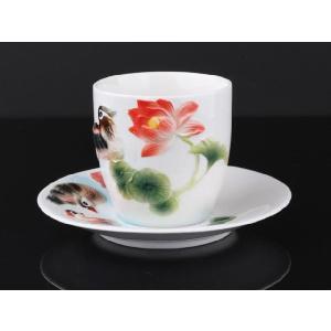 高級ハンドペイント オリジナルお茶コップ&ソーサー|nishida-store
