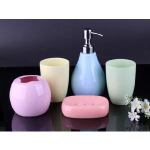透明釉薬使用天然発色磁器製バス5点セット 5色|nishida-store