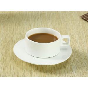 カップソーサー セット 130ml-Aタイプ  コーヒー 珈琲 コップ 強化磁器 白磁 無地 シンプル おしゃれ 軽い 北欧風|nishida-store