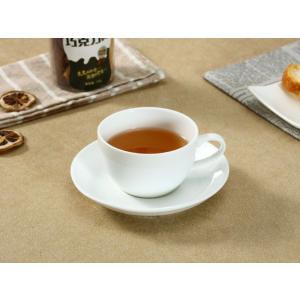 カップソーサー セット 170ml-Dタイプ  珈琲 コップ 強化磁器 白磁 無地 シンプル おしゃれ 北欧風 軽い 丈夫|nishida-store