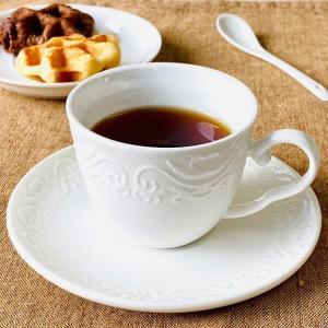 カップソーサー セット 190ml 白磁 おしゃれ レンジOK 軽い カフェ コーヒーカップ ティーカップ 強化磁器|nishida-store