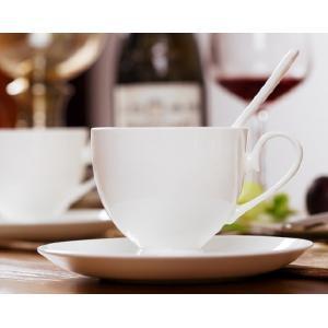 カップソーサー セット 200ml 白磁 おしゃれ レンジOK 軽い カフェ コーヒーカップ ティーカップ 強化磁器|nishida-store