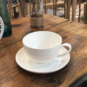 カップソーサー セット 270ml 白磁 大容量カフェラテ 紅茶カップ おしゃれ レンジOK 軽い ...