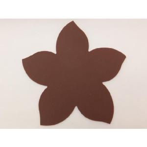 テーブルを華やかに演出する シリコン製桜型コースター 茶色|nishida-store
