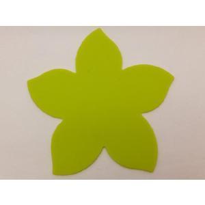 テーブルを華やかに演出する シリコン製桜型コースター 黄緑色|nishida-store