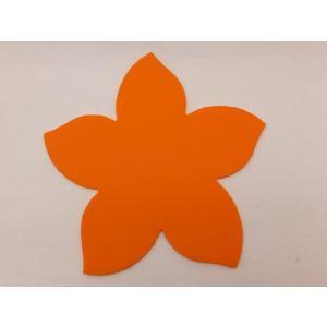 テーブルを華やかに演出する シリコン製桜型コースター オレンジ色|nishida-store