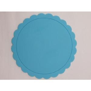 テーブルを華やかに演出する シリコン製太陽型コースター 水色|nishida-store