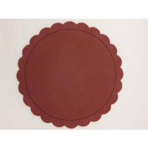 テーブルを華やかに演出する シリコン製太陽型コースター 茶色|nishida-store
