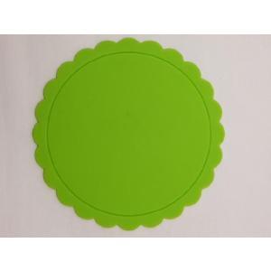 テーブルを華やかに演出する シリコン製太陽型コースター 緑色|nishida-store