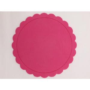 テーブルを華やかに演出する シリコン製太陽型コースター ピンク色|nishida-store