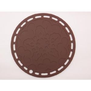 選べる5色 丸いシリコン製鍋敷き 茶色|nishida-store