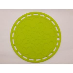選べる5色 丸いシリコン製鍋敷き 黄緑色|nishida-store