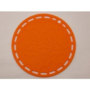 選べる5色 丸いシリコン製鍋敷き オレンジ色|nishida-store