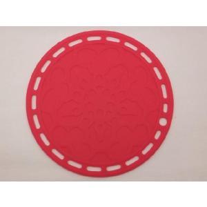 選べる5色 丸いシリコン製鍋敷き ピンク色|nishida-store