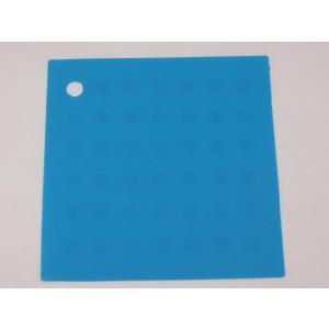 選べる5色 繰り返し洗える滑らない正方形 シリコン製ランチョンマット 水色|nishida-store