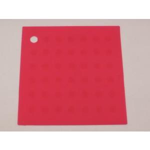 選べる5色 繰り返し洗える滑らない正方形 シリコン製ランチョンマット ピンク色|nishida-store