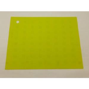 選べる5色 繰り返し洗える滑らない長方形 シリコン製ランチョンマット 黄緑色|nishida-store