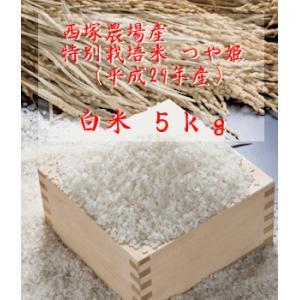 【新米】特別栽培米つや姫 (平成29年産)白米 5kg|nishidukafarm