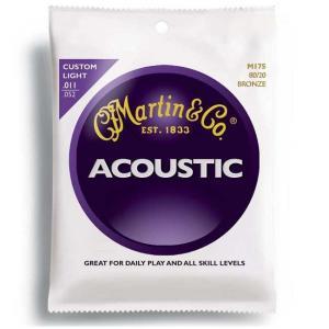 マーチン M175 アコギ弦 CUSTOM LIGHT カスタムライト アコースティック弦/ポイント消化|nishigaku