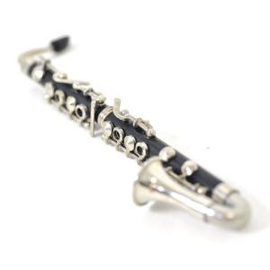 ミニチュア楽器(フィギュア)バスクラリネット 黒 金属製・プラスチック 1/6(13cm)