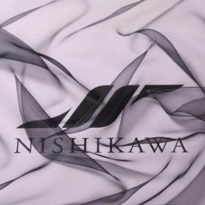 生地 ウエディング、ドレス 超極薄 新感覚エンジェルオーガンジー 色番号FB ブラック|nishikawa-tex1211