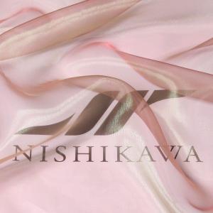 生地 ストール、子供、ドレス、発表会衣装 マイクロオーガンジー 色番号35 シャンブレーブラウン|nishikawa-tex1211