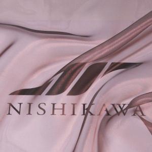 生地 ストール、子供、ドレス、発表会衣装 マイクロオーガンジー 色番号43 ブラウン|nishikawa-tex1211