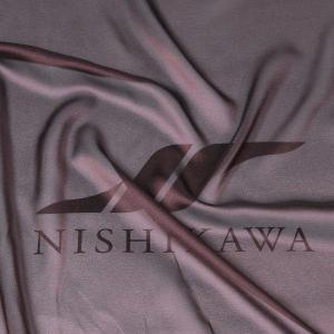 生地 カジュアルからフォーマルまで シャンブレー梨地ジョーゼット 色番号17 ダークブラウン|nishikawa-tex1211