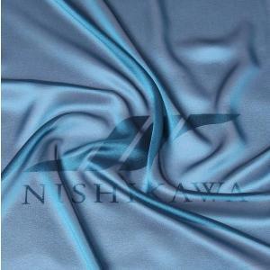 生地 カジュアルからフォーマルまで シャンブレー梨地ジョーゼット 色番号36 シャンブレーターコイズ|nishikawa-tex1211