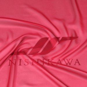 生地 カジュアルからフォーマルまで シャンブレー梨地ジョーゼット 色番号37 レッド|nishikawa-tex1211