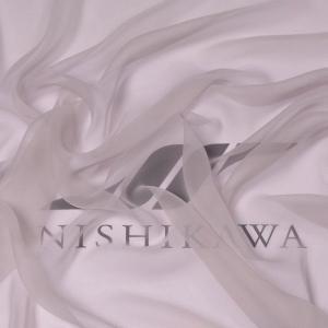 生地 軽い、ワンピース、ドレス、ダンス衣装、舞台衣装に ジョーゼット 色番号11 ライトグレー|nishikawa-tex1211