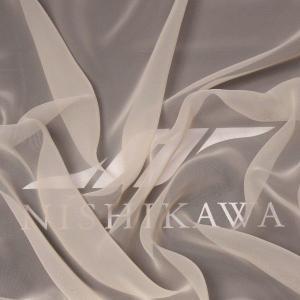 生地 軽い、ワンピース、ドレス、ダンス衣装、舞台衣装に ジョーゼット 色番号12 ベージュ|nishikawa-tex1211