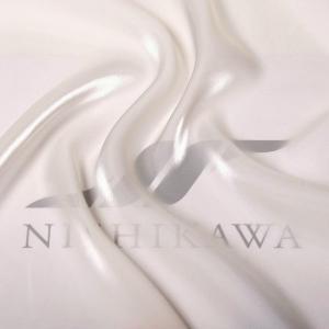 生地 ワンピース、ドレス素材 カチオンステンレスサテン 色番号1 アイボリー|nishikawa-tex1211